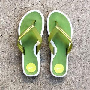Nike   Lime Green Flip Flops